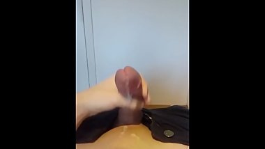 Young twink jerking off