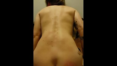 Fit Navy chick moans during reverse cowgirl