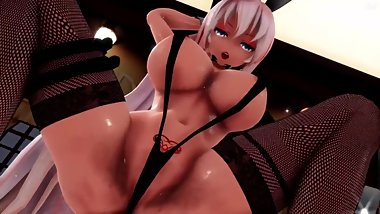 MMD SEX Luka Megurine In Micro Bikini - Pole Dancer