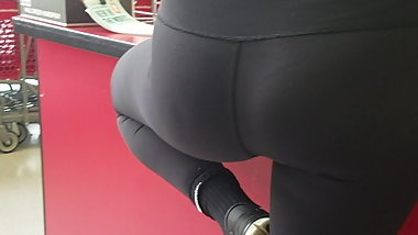 tight yoga ass bend over