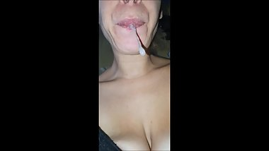 Spit, drooling, mouth and tongue fetish (demo)