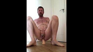 Impotent Fag Riding a Dildo