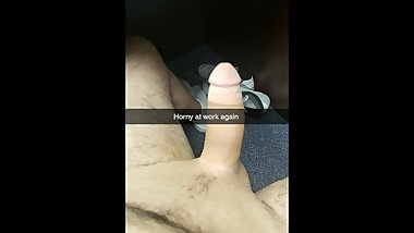 Horny at work needed a good wank