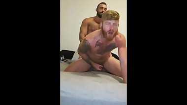 ginger bottom fucked till he cums in ecstasy