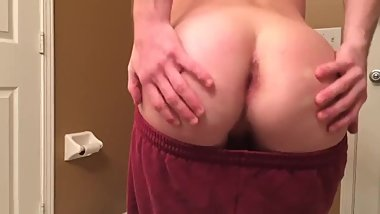 Taking my pants off and showing my ass then sending the vid to str8 guy