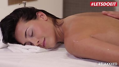 LETSDOEIT - Horny Brunette Ana Rose Gets All Kinky On The Massage Table