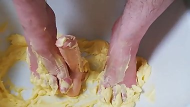 Fun with butter and dildo