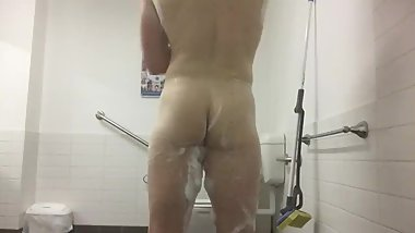 Gym undress and shower