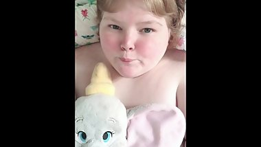 Cute Barely Legal BBW Teen Has Fun With New Toy