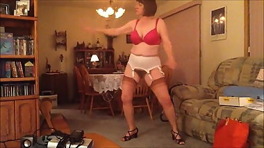 Pam L. - Dancing in her stockings