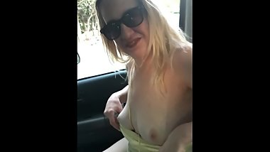TRIXIE DIRTY TALK IN THE CAR AT THE PUBLIC PARKING LOT