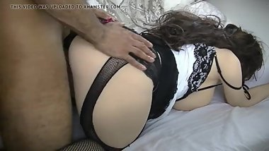 Big ass sex doll in pantyhose and fishnet stockings, sex doll fuck big cock