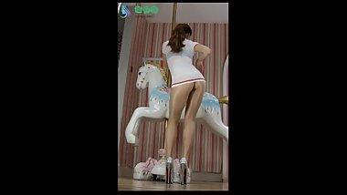 asian shiny pantyhose dance
