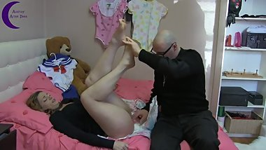 Villain Dominic Puts Her Back In Diapers - ABDL
