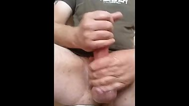 Who doesn't love cum dripping from their balls after a good hard wank?