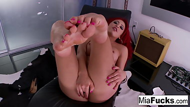 Mia showing off her sexy feet