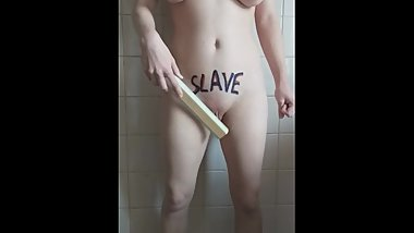Report. Slave executed the punishment in front of the camera. For the lord.