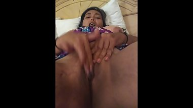 Fingering my Pussy Until I Drip All Over the Hotel Bed