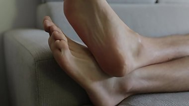 My footfetish girlfriend made me do this video for her. Foot Rest POV