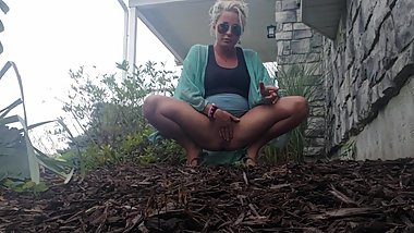 Public piss bushes hot blonde sunglasses