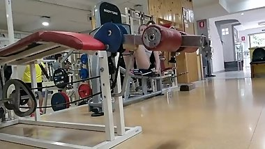 Teen candid gym in shorts shaved pussy
