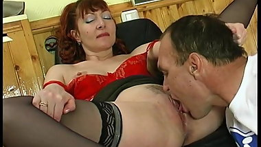 Russian MILF and man