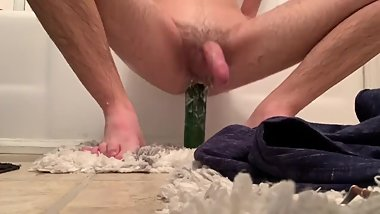 Uncut Twink Riding Thick Cucumber