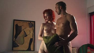 Nude at the Door/Nude Demonstration - Justine Joli (CFNF CFNM CMNF NIP)