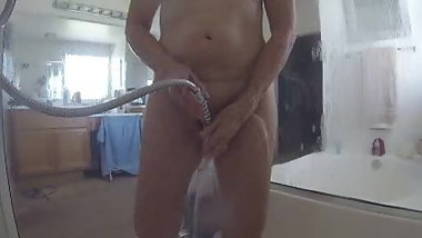 My GILF shower and light play