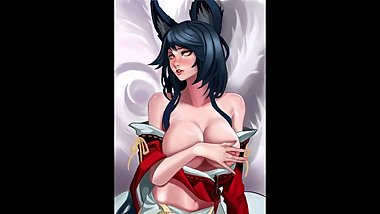 (HENTAI SLIDESHOW)[LEAGUE OF LEGENDS] AHRI Classic Outfit Part 4