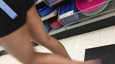 Sexy Asian girl teasing me in the whole store