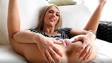 Skinny petite Skye Fucks Herself With Toys