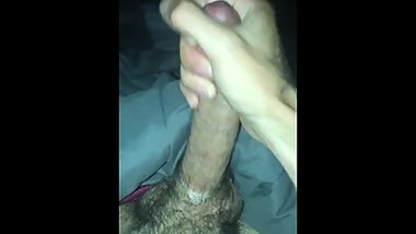 Stroking my big ass dick