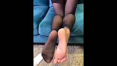 Asian girl nylon feet part 1