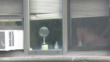Neighbor window Voyeur couple fucking