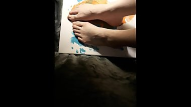 Playing With Paint! So Messy! (Painting With My Feet)