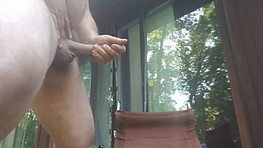 Stroking on my deck this morning