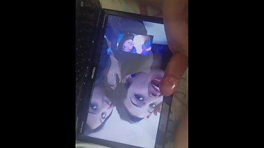 CUMTRIBUTE TO GULITZAR WITH HER BEAUTIFUL FRIEND