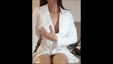 Chinese beauty shows her body and feet