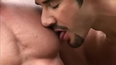 Two horny farmer men get into play starting from Nipple play!