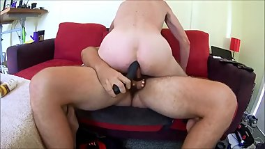 Me dubbed thick cock and with dildo, dam it felt so good. what more.