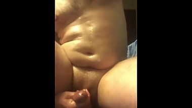 I thought I was alone making a tummy video, someone grabbed my cock! First!