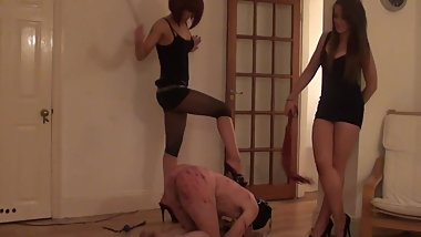 Two Merciless Mistress Destroy to Slave