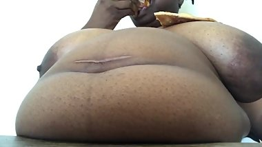 ssbbw pizza stuffing pig