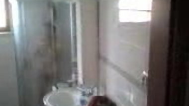 Chinese mature granny in shower