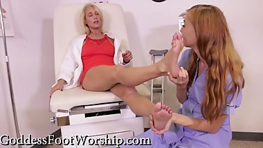 Ava Harper and Tabatha Jordan - Foot Procedure