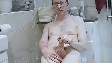 Cute Horny Boy In Bathroom Squirting Huge Load