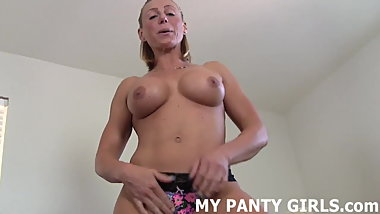 My ass completely swallows this thong JOI