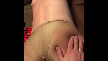 Finished the spanking, now it was time to fuck her