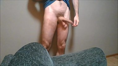 Ball Massaging and Heavy Soft Cock Slapping